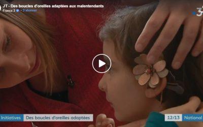 Des boucles d'oreilles adaptées à la surdité – Odiora Reportage France 3 National